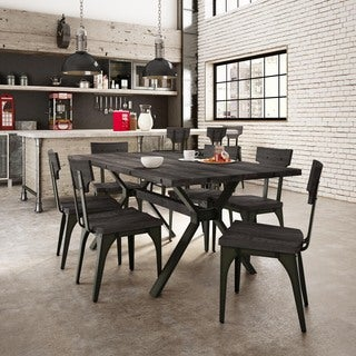 Carbon Loft Kettering Gunmetal Chairs and Table Dining Set (2 options available)