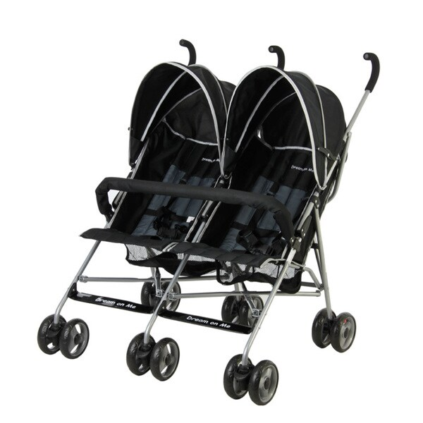 Dream on Me Black Plastic Twin Stroller