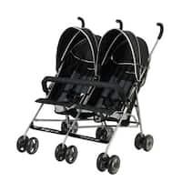 Dream on Me Black Plastic Twin Stroller