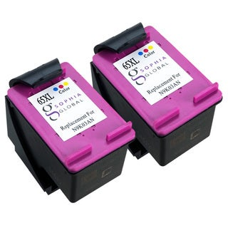 Sophia Global High Yield Remanufactured Ink Cartridge Replacement for HP 65XL (Pack of 2 Color N9K03AN)