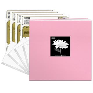 Pioneer Photo Albums Baby Dreamy Pink Fabric Frame Cover 12-inch 40-page Scrapbook|https://ak1.ostkcdn.com/images/products/14356789/P20932470.jpg?impolicy=medium
