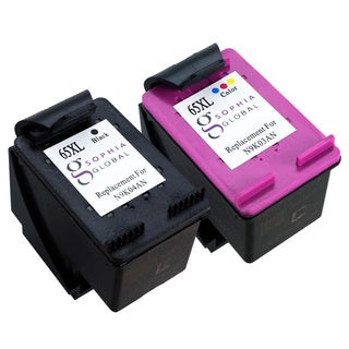 Sophia Global Remanufactured Black/Color Ink Cartridge Replacement for HP 65XL (Pack of 2)