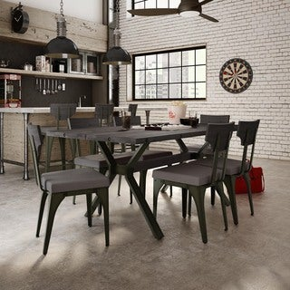 Amisco Rally Metal Chair and Laredo Table, Dining set