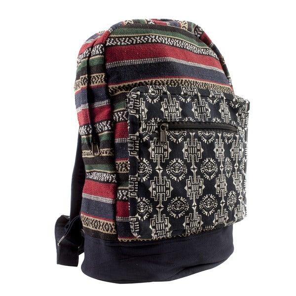 Handmade Tribal Fiesta Boho Backpack (Nepal)