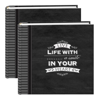 Pioneer Chalkboard Black 200-pocket Photo Albums (Set of 2)