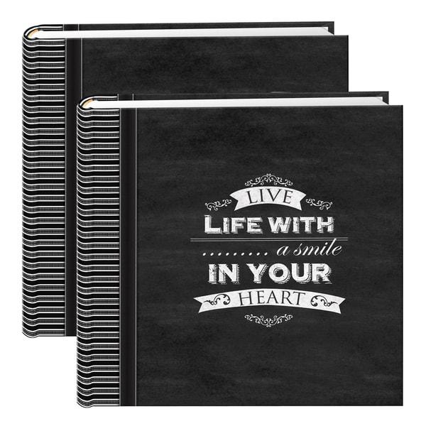 Pioneer Chalkboard Black 200-pocket Photo Albums (Set of 2)