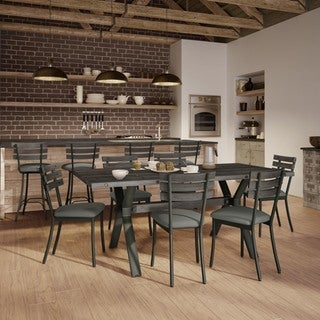 Amisco Lodge Metal Chairs and Laredo Table, Dining Set