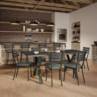 Carbon Loft Montgolfier Grey Metal Dining Set