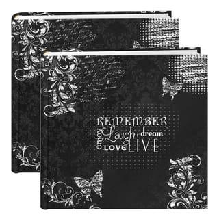Pioneer Chalkboard Black/White 200-pocket Photo Albums (Set of 2) https://ak1.ostkcdn.com/images/products/14356807/P20932473.jpg?impolicy=medium