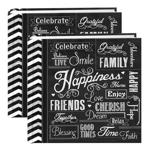 Pioneer Chalkboard 200-pocket Photo Albums (Set of 2)