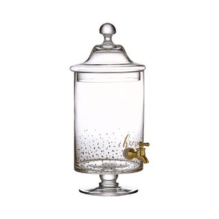 Crystal Clear Cheers Gold Glass Beverage Dispenser