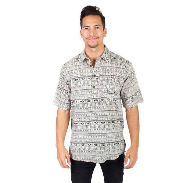fe2ad056f8f Shop Handmade Men s Summer Cotton Half Sleeve Kurta Shirt (Nepal ...