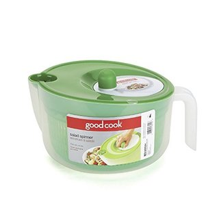 Bradshaw Green and Clear Plastic Salad Spinner Deluxe