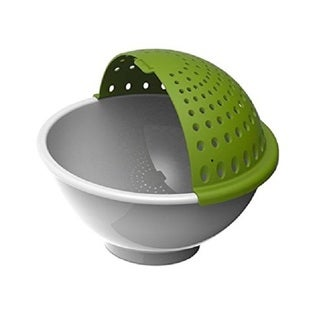 Good Cook Soak-and-strain Green and White Plastic Colander