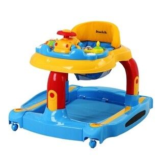 Dream On Me Baby Tunes Fabric 2-in-1 Musical Activity Walker and Rocker