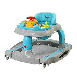 Dream On Me Grey 2-in-1 Baby Tunes Musical Activity Walker and Rocker