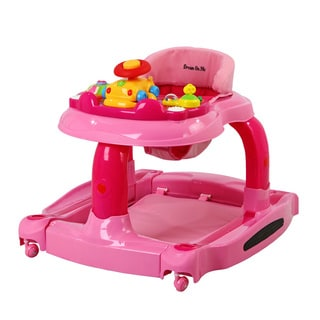 Dream On Me Pink Fabric 2-in-1 Baby Tunes Musical Activity Walker & Rocker