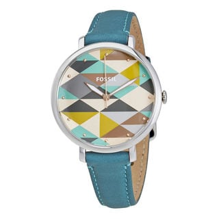 Fossil Women's ES4090 Multicolor Dial Turquoise Leather Watch