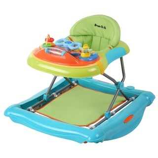 Dream On Me Blue 2 in 1 Crossover Musical Walker and Rocker