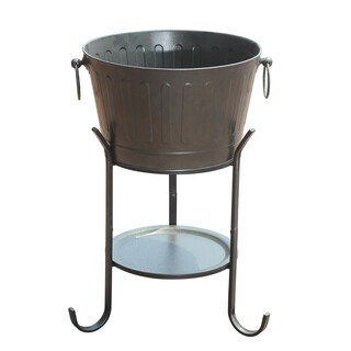 Sunjoy Margo Steel Beverage Party Tub