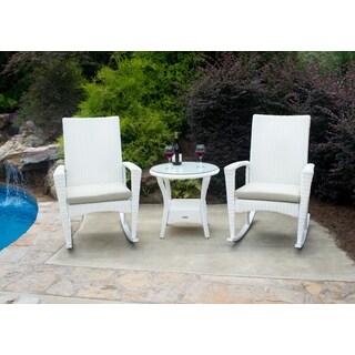 Tortuga Outdoor Bayview Magnolia Rocking Chair 3-piece Set