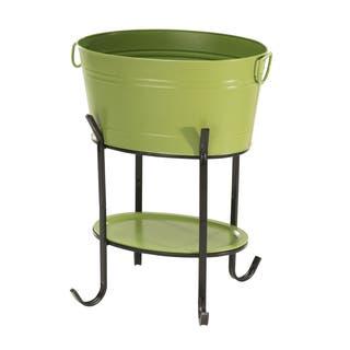 Sunjoy Green Steel 26-inch Party Tub|https://ak1.ostkcdn.com/images/products/14356929/P20932565.jpg?impolicy=medium