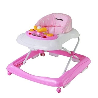 Dream on Me Pink Fabric Scout Musical Walker and Activity Center