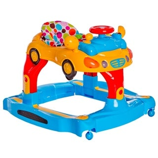 Dream on Me Joyride Yellow, Red, and Blue 3-in-1 Rocker, Walker, and Push Toy