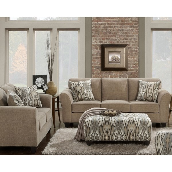 Sofa Trendz Colby 3 Pc Mocha Loveseat And Ottoman Set