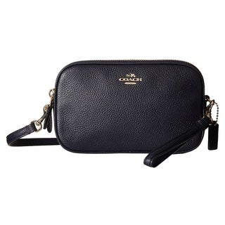 coach poppy handbags outlet 9t1e  Coach Navy Pebbled Leather Crossbody Clutch Handbag