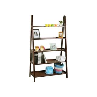 Wood 48 Inches A-Shelf in Walnut Finish