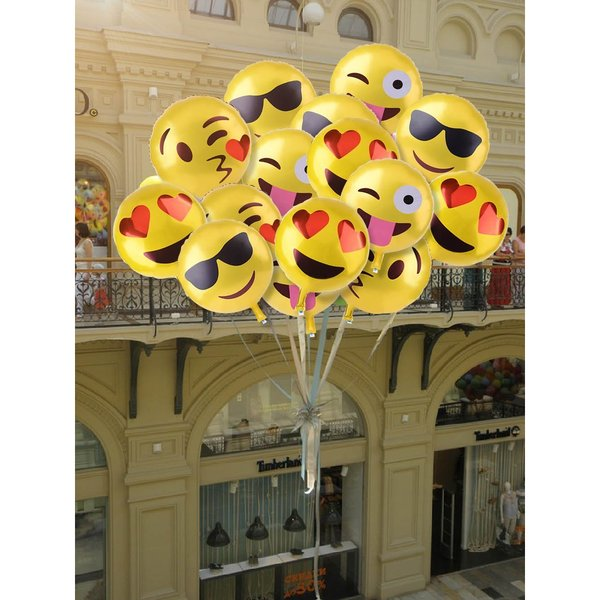 Emoji Mylar Party Balloons