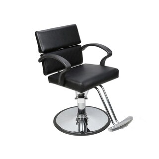 BarberPub Classic Hydraulic Black Hair SalonChair