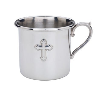 Reed & Barton Pewter Cross Baby Cup