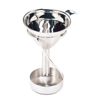 Swissmar Stainless Steel 6-hole Stem with Stand Decanting Wine Funnel
