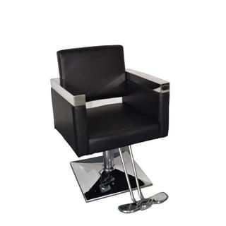 BarberPub Hydraulic Black Hair Salon Chair