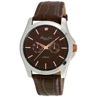 Kenneth Cole Diamond 10022313 Men's Brown Dial Watch
