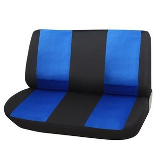 Adeco Black/ Blue Universal Car Bench Seat Cover