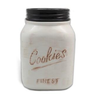 Ceramic Mason Cookie Jar (Option: White)