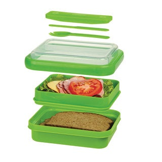 Progressive Prep Solutions On-the-Go Divided Lunch Container, Green