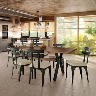 Amisco Knowlton Metal Chair and Laredo Table, Dining set