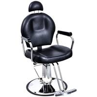 BarberPub Reclining Hydraulic Black Hair Salon Chair