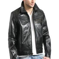 Black Leather Slim Fit Jacket