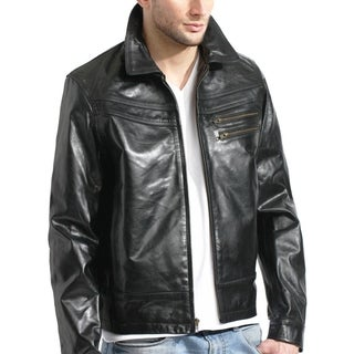 Black Leather Slim Fit Jacket