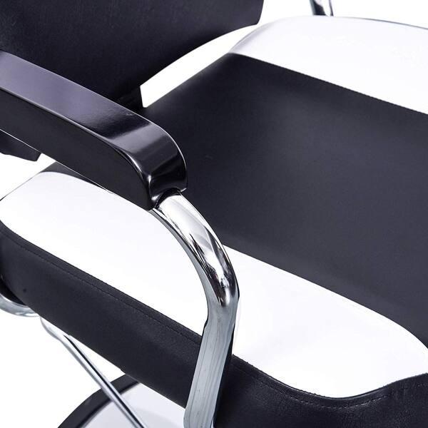 Incredible Shop Barberpub Reclining Hydraulic Black White Hair Salon Dailytribune Chair Design For Home Dailytribuneorg