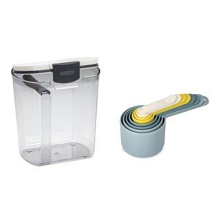 Progressive Prepworks DKS-100 Flour ProKeeper With 8-piece Measuring Cup Set