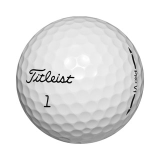 Titleist Pro V1 White Rubber Recycled Golf Balls (Case of 12)