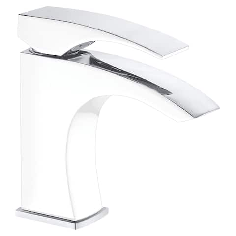Dawn® Single-lever lavatory faucet, Chrome & White (Standard pull-up drain with lift rod D90 0010C included)