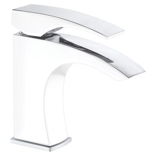 Dawn Single-lever lavatory faucet, Chrome & White (Standard pull-up drain with lift rod D90 0010C in