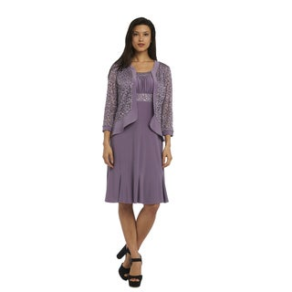 R&M Richards Women's Lace Jacket Dress
